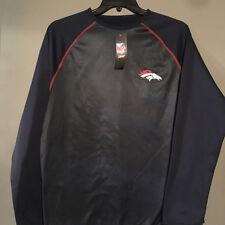 Denver Broncos Pullover Medium Tech Fleece NFL Blue Orange Majestic New