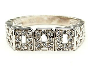 SILVER DAD RING size U 925 STERLING SILVER NEW OTHER SIZES AVAILABLE 3.2g