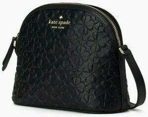 * TEST Hollie X-Large Dome Crossbody Black Embossed Leather WKRU6770 $249
