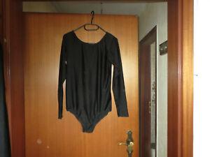 Damen Body langarm schwarz 38 40 42 Sexy Top Neu ohne Zip Schwimmen Gymnastik