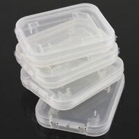 10x Transparent Standard SD SDHC Memory Card Case Holder Storage Box Plastic ch