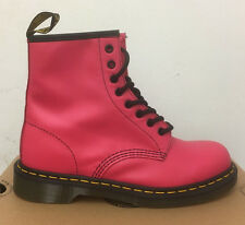 DR. MARTENS 1460  NEON PINK SOFTY T    LEATHER  BOOTS SIZE UK 4
