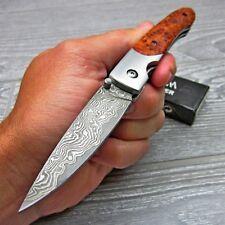 Boker Magnum Senior 37 Layer Damascus Burlwood Folding Pocket Knife 01MB030DAM