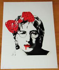 DEATH NYC Ltd Ed Print - John Lennon - NYC COA & Sticker 45x32 No. 70/100