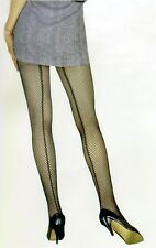 Sexy Lingerie see through Black Fishnet One Size Nylon pantyhose with back seam
