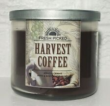 Bath and Body Works Harvest Coffee Fresh Picked 3 Wick Candle 14.5 Ounces Brown