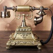 Vintage Landline Old Telephone Swival Plate Rotary Dial Phone For Home Office
