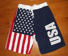 USA flag board shorts American swimming trunks Medium