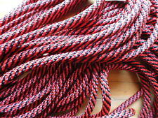 "Bolo Cord 36"" RED AND BLACK Rayon (pkg 12) 0826 Plasticized Tips 4mm thickness"