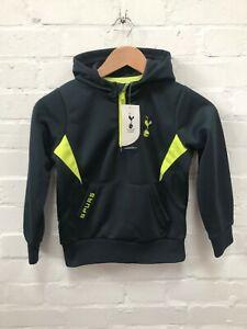 Tottenham Hotspur FC Official Kids Boys Football Spurs 1/4 Zip Poly Hoodie - New