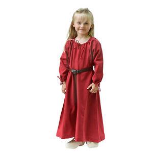 Kinder Mittelalterkleid Ana rot, Wikingerkleid Unterkleid Wikinger Mittelalter