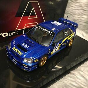 AUTOart 1:43 Subaru Impreza WRC Rally France 2003 Solberg Mills 60393