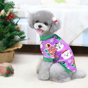 Cute Soft Warm Pet Dog Sweater Clothes Xmas Design Snowman Puppy Cat Coat Outfit