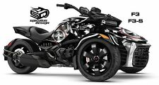 "Can Am Spyder F3 F3S Decal Graphic Wrap kit - Patriot USA Captain ""Midnight"""