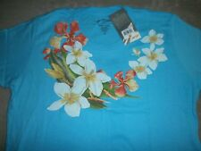 Matson Lines Ladies Floral Print Aloha Beach 100% Soft Cotton S/S T-Shirt Xl