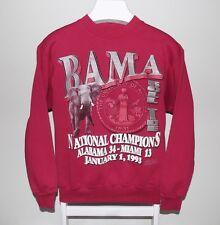 Vintage 90's Alabama Crimson Tide 1993 Sugar Bowl Cotton Blend Sweatshirt Size M