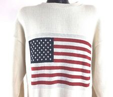 American Flag Sweater USA America Fashion White Stars and Stripes Retriever