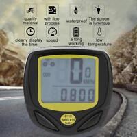 Wireless Bicycle Speedometer Cycle Bike Computer Odometer Meter Waterproof ZH