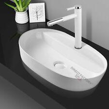 Zero 600 Ceramic Slim Basin Bathroom vanity sink Gloss white above counter top