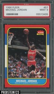 "1986 Fleer Basketball #57 Michael Jordan HOF RC Rookie PSA 9 "" DEAD CENTERED """