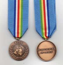 * UNITED NATIONS MINIATURE MEDAL FOR CENTRAL AFRICAN REPUBLIC - MINUSCA MISSION