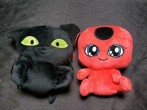 "Miraculous Tikki Plagg 6"" Plush Toy 2 pc Tales of Ladybug Cat Noir Cartoon"