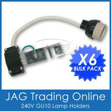 6 x 240V GU10 DOWNLIGHT LAMP HOLDER-Socket/Connector/Adaptor/Fixture Lampholder