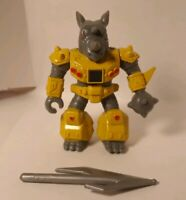 Battle Beasts #9 Rocky Rhino w Rub (Water) and Weapon