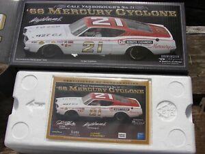 Autographed University of Racing 1968 Cale Yarborough #21 Mercury Cyclone 1/24