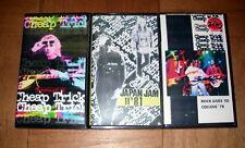 Cheap Trick Rare Lot of 3 Vhs Live Concert Tapes '78 '79 '81 U.K. & Japan