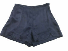 AX Armani Exchange Satin Navy Side Zip Short Shorts Women's Size 0