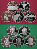 5 Clad 2007 S Proof Deep Cameo State Quarters Mirror Finish Combined Shipping