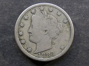 United States of America. 5 Cents (Nickel), 1883, Liberty head, CENTS.