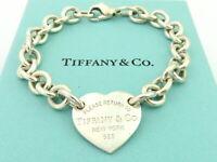 TIFFANY & CO Sterling Silver Return to Tiffany Heart Tag Bracelet