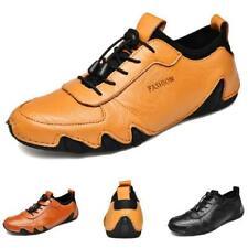 Mens Faux Leather Driving Moccasins Shoes Pumps Slip on Breathable Comfy Soft L