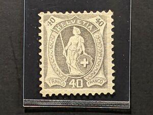 1905 Switzerland 40c gray 5c 108a wmk 183 perf 11 1/2x 11 white paper