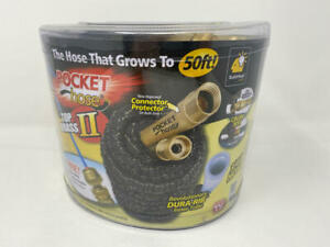 New Pocket Hose Top Brass Bullet by BulbHead No Kinking Or Leaking With Solid