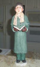 GRANDEUR NOEL COLLECTORS EDITION CHRISTMAS CHOIR CAROLING MAN W/BOOK FIGURINE