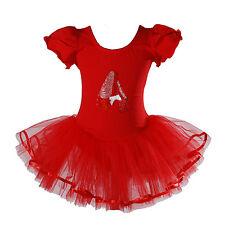 New Girls Red Ballet Dance Tutu Dress 4-5 Years