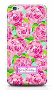 New Lilly Pulitzer Red Roses Logo hard case for iphone 6 6s 6s plus 7 7+ 8 8+ X
