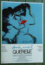 Andy Warhol Querelle 1982•Fassbinder•Movie Poster 28x40 Original Blue NM