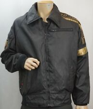 Vintage Honda Goldwing Motorcycle Jacket Large Insulated Liner Black Reflective