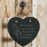 Personalised Birthday Home Gift Mother Best Friend Slate Hanging Sign Plaque