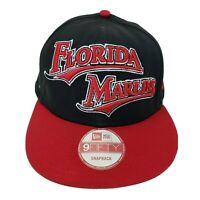 Florida Marlins New Era Hat MLB Baseball Cap Black Snapback 9 Fifty 100% Cotton