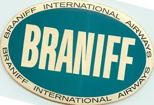 BRANIFF AIRWAYS - Classic Old Airline Luggage Label / Decal, circa 1965