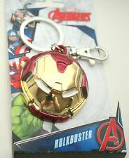 Marvel Comics Red Iron Man Hulk Buster Helmet Heavy Metal Key Chain New NOS MIP