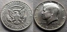 1964 AU P Kennedy Half Dollar 90% Silver US Mint Lot 12