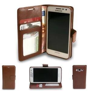 HPO Buch Handy Tasche f Huawei Y625 Wallet  Klapp Case Schutz Silikon Etui BRAUN