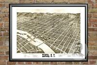 Old Map of Elmira, NY from 1873 - Vintage New York Art, Historic Decor