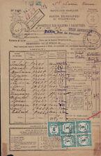 VIENNE - ST SAVIN - BORDEREAU DES VALEURS A RECOUVRER - TAXE N°60 BLOC DE 4+1